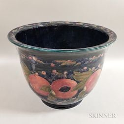 Large Moorcroft Pottery Pomegranate Design Planter